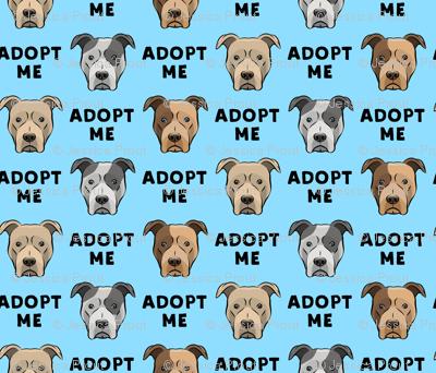 (slightly larger) adopt me - pit bulls on blue C18BS