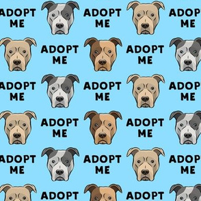 (slightly larger) adopt me - pit bulls on blue C18BS