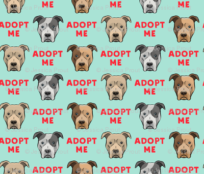 (slightly larger) adopt me - pit bulls on mint C18BS