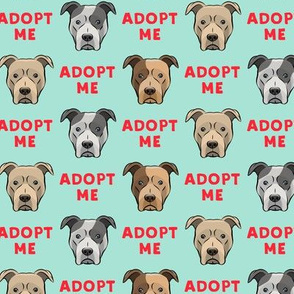(slightly larger) adopt me - pit bulls on mint C18BS