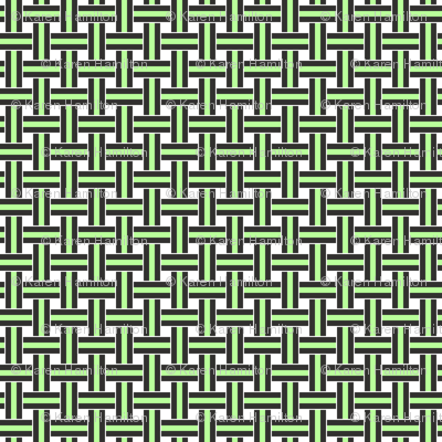 Licorice Allsorts weave Lime