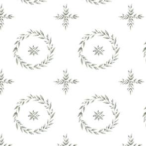 Circle Greenery Pattern
