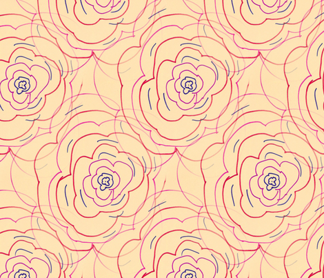 Feisty Flowers - Extra Large fabric by atlas_&_tootsie on Spoonflower - custom fabric