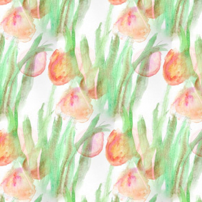 Watercolor Tulips - Extra Large