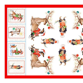 tea towel Christmas doxie