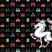 castle with unicorn