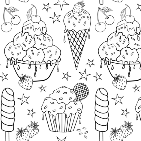 Ice-cream galore fabric by vivdesign on Spoonflower - custom fabric
