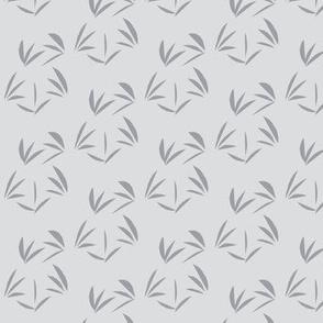 Mystic Grey Tussocks on Silver Mist - Medium Scale