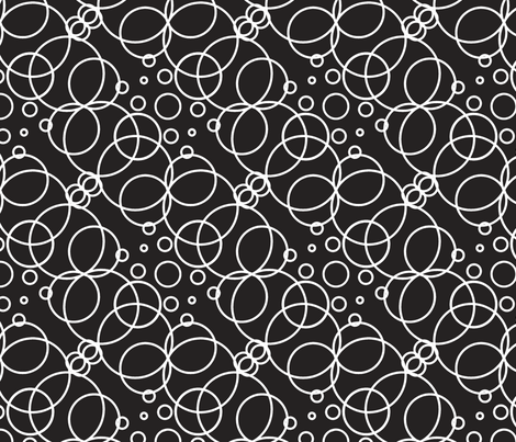 Bubbles, white & dark grey fabric by paradoxicalities on Spoonflower - custom fabric