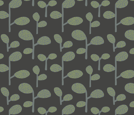 Pattern_Bubble_Leaves_Green_Sf fabric by eva_martínez on Spoonflower - custom fabric