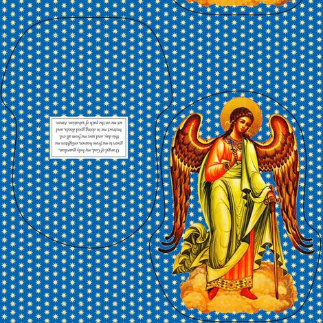 Mini Plush Guardian Angel fabric by st_tabithas_workshop on Spoonflower - custom fabric