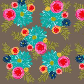 Floral bouquet-Gray