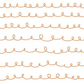 Loops weiß orange