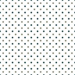 polkadots weiß grau blau