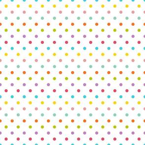 polkadots weiß regenbogen