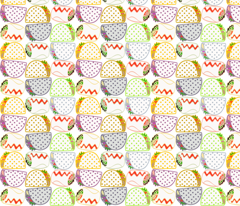 tacos and burritos 2 copy fabric by lorloves_design on Spoonflower - custom fabric