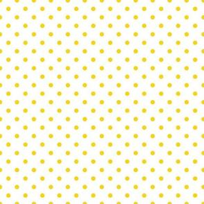 polkadots weiß zitronengelb