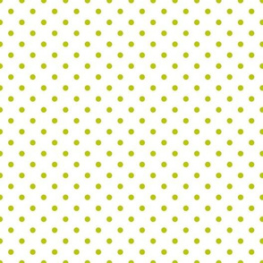 polkadots weiß limonengruen