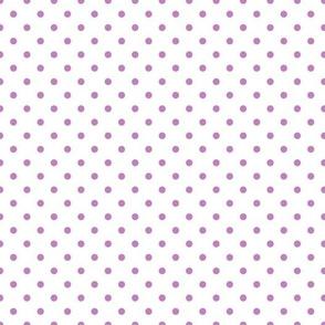polkadots weiß lila