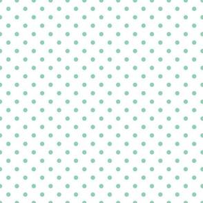 polkadots weiß seegrün