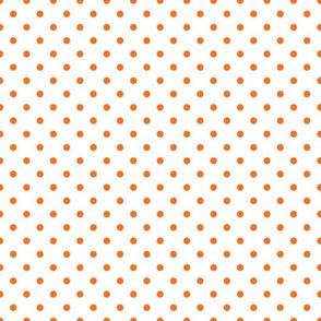 polkadots weiß orange