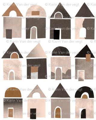 Paper houses nature tone