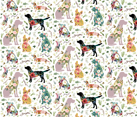 "8"" Patchwork Dogs fabric by shopcabin on Spoonflower - custom fabric"