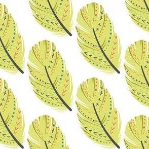 Federn Indianer gelb