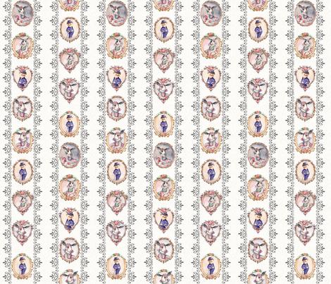 ben ami ,Victorian Bunny Rabbit & Bear fabric by masha_by_masha on Spoonflower - custom fabric