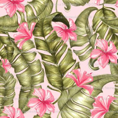 greenleaves_andflowers_pink