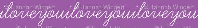 I Love You Purple Background