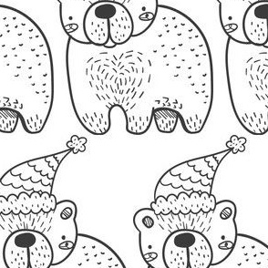 Winterbär schwarz weiß