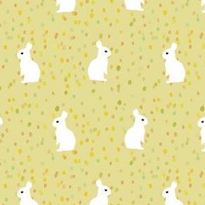 sitting rabbits dots
