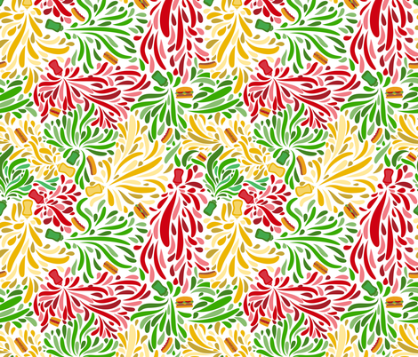National Hot Dog Day fabric by crystal_whitlow on Spoonflower - custom fabric