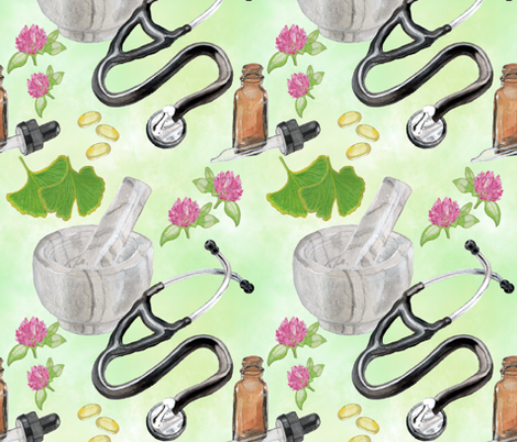 Naturopathic Medicine fabric by iadesigns on Spoonflower - custom fabric