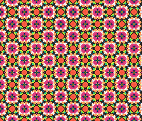 Flower Quilt fabric by groundfeather_studio on Spoonflower - custom fabric