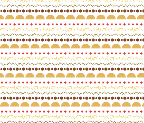Minimal taco stripes on white fabric by megannorrell on Spoonflower - custom fabric