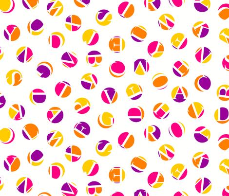 ditsy alphabet dots, karmic colors fabric by weavingmajor on Spoonflower - custom fabric