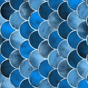 Abstract Waves (Blue) / Tilted