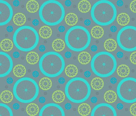 Bicycle polka dot blues fabric by krystalsavage on Spoonflower - custom fabric