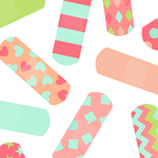 Bandaids - Mint, Raspberry