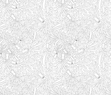 Food Frenzy - Coloring Page fabric by crystal_whitlow on Spoonflower - custom fabric