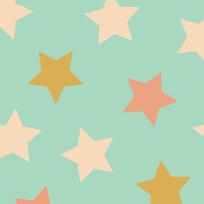 Sterne türkis bunt