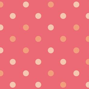 Punkte rosa orange auf Beere