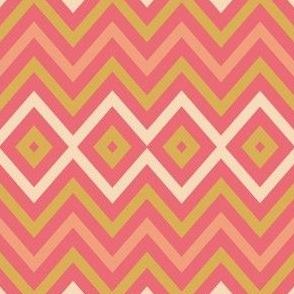 zickzack raute pink rosa gold