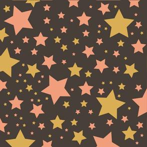 sterne schwarz rosa gold
