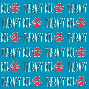 Therapy Dog Blue Linen