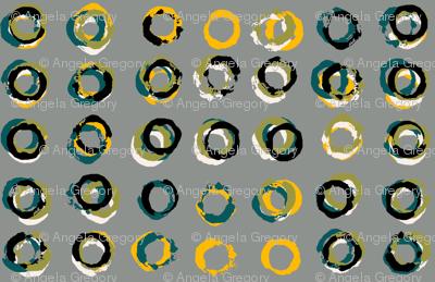 Paint tube circles gray