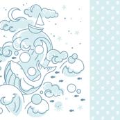 Baby Whale Blanket - Aqua