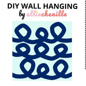 Blue spirals DIY wall hanging cut and sew project